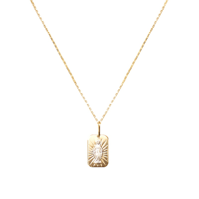 Collar-Virgen-Milagrosa-medalla-cuadrada