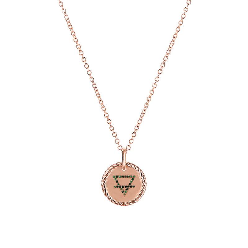 Collar-4-elementos-Tierra-enchape-en-oro-rosa