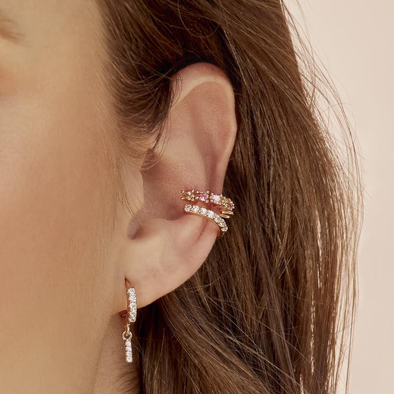Ear-cuff-multicolor-rosado-naranja-enchape-en-oro-rosa
