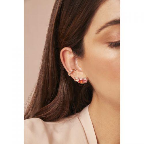 Rainbow-ear-cuff+-aretes-naranja-rosados-2