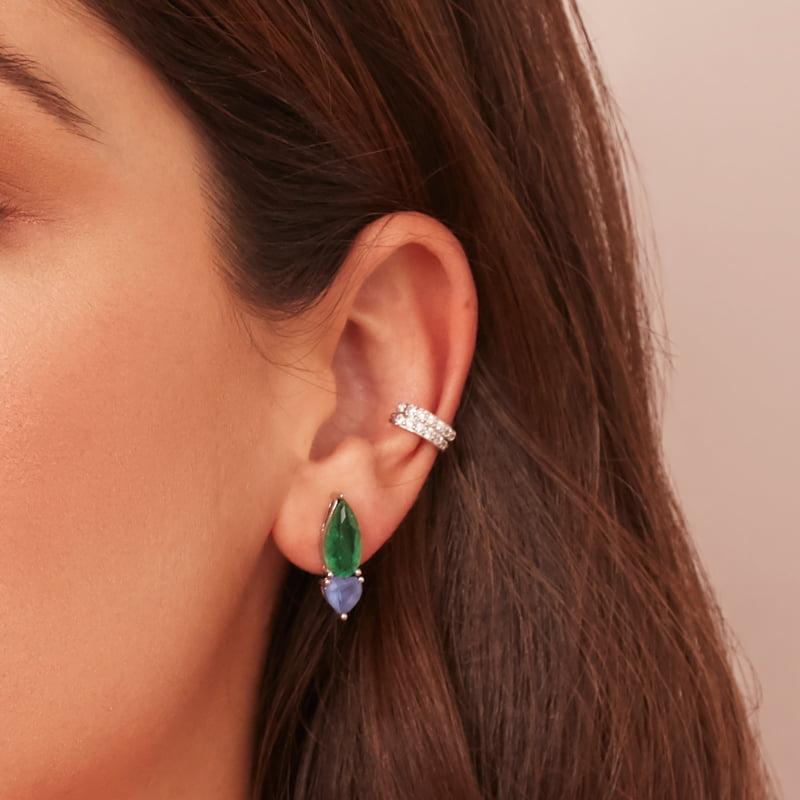 Closeup-aretes-circones-esmeralda-azul