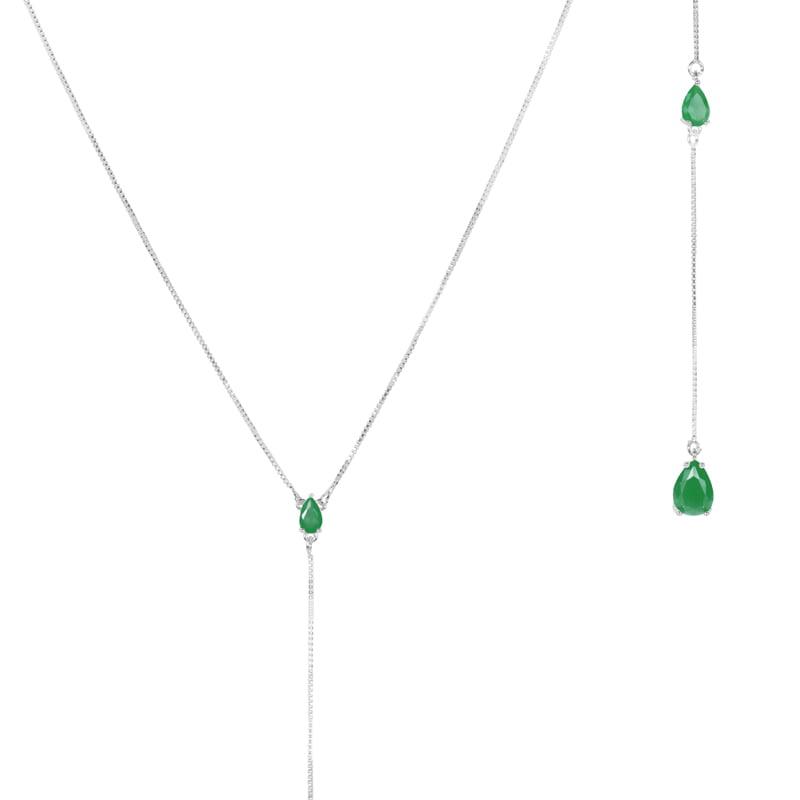 Collar-lariat-circones-esmeralda